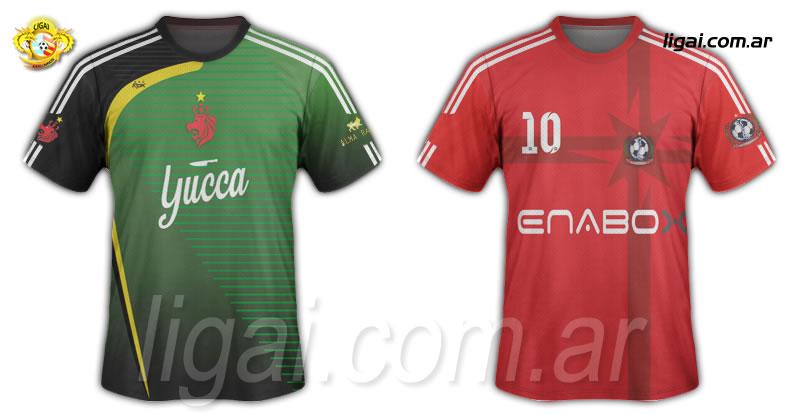 Alma Rasta y Fractura Expuesta FC, diseños 2015.